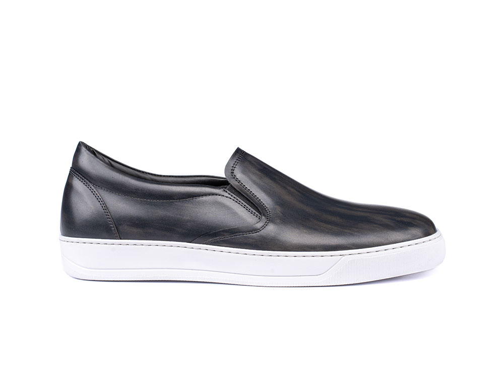grey deco slip on sneakers