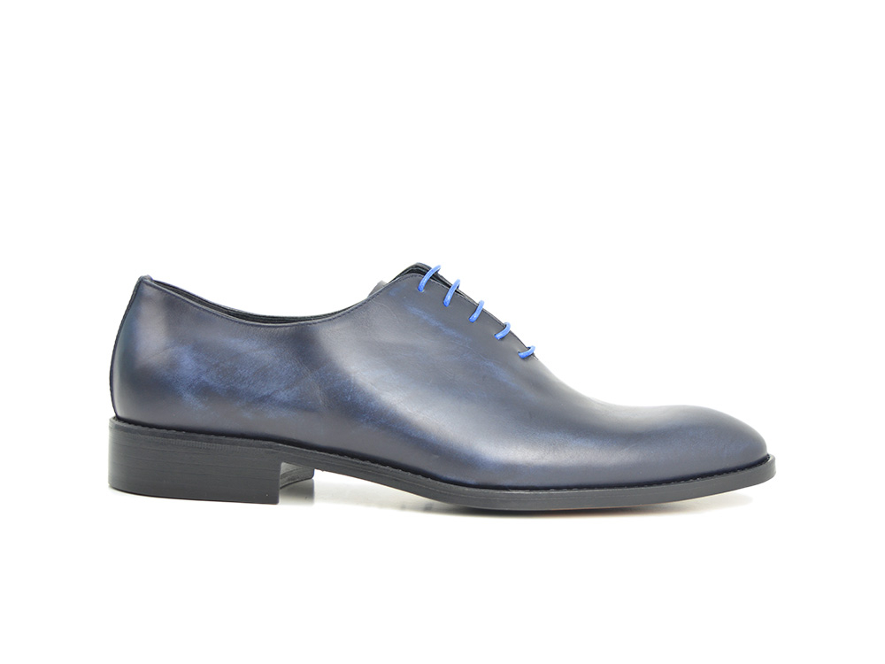 decò blu leather men oxford plain