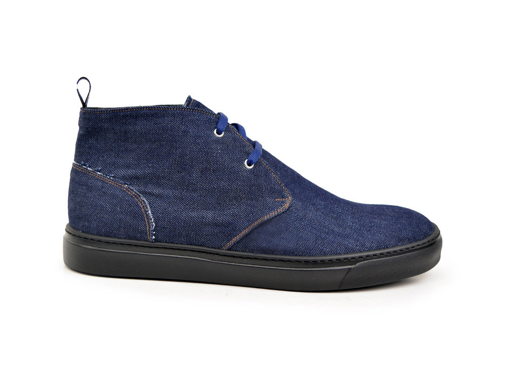 dark denim sneaker boot