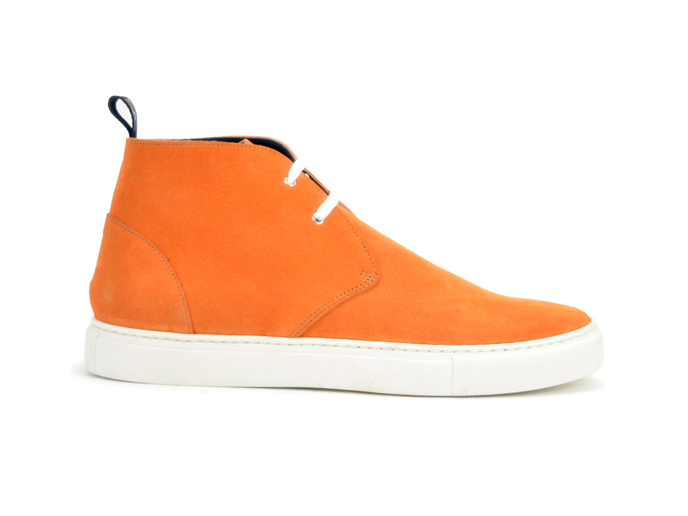 orange suede sneaker boot