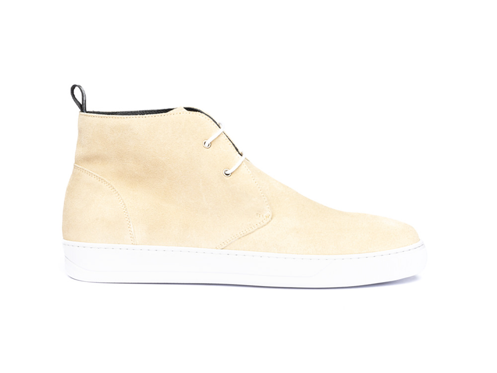 sand suede sneaker boot