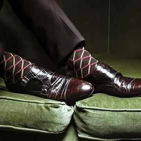软皮男士平底鞋