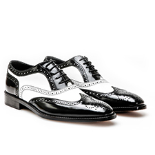 Fred - Black and White Oxford Shoes