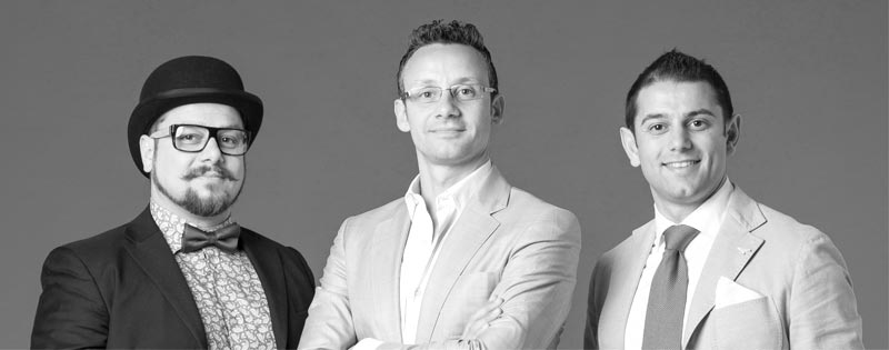 da sinistra: Francesco Carpineti, Michele Luconi, Andrea Carpineti