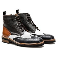 Colombo - Leather Ankle Wing Brogue