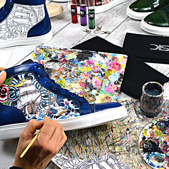 Hand painted customised shoes. Customise ... b9898ba0c